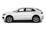 Car driver side profile view of a 2019 Audi q8 Premium Plus 5 Door SUV