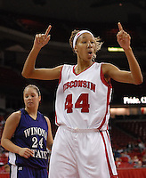 Danielle Ward led the Badger win over Winona State with 21 points