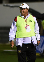 TUNJA -COLOMBIA, 29-09-2016. Nestor Otero técnico de Rionegro Águilas gesticula durante partido contra Patriotas FC por la fecha 15 de la Liga Águila II 2016  realizado en el estadio La Independencia de Tunja./ Nestor Otero coach of Rionegro Aguilas gestures during match against Patriotas FC for the date 15 of Aguila League II 2016 played at La Independencia stadium in Tunja . Photo: VizzorImage/César Melgarejo/Cont