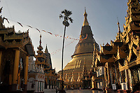 The Shwedegon Pagoda, Rangoon, Burma, Nov 2008.<br />