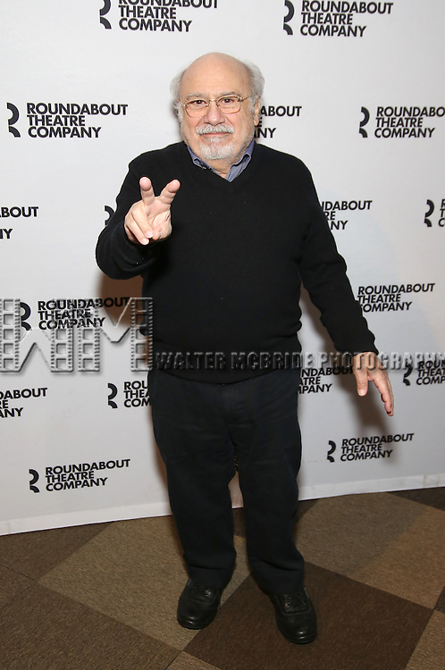 Danny DeVito attends the photocall for the Roundabout Theater Company production of Arthur Miller's 'The Price' at The Roundabout Theatre Studios on January 19, 2017 in New York City.