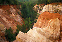 "AJ3978, Providence Canyon, Georgia, Providence Canyon State Park, Georgia's """"Little Grand Canyon"""" in Providence Canyon State Park in Lumpkin in the state of Georgia."
