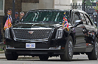 US Presidential limo aka 'The Beast' outside No 10 Downing Street on the second day of the State Visit to the UK. June 4th 2019<br /> CAP/ROS<br /> ©ROS/Capital Pictures