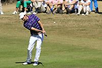 Thomas Aiken (RSA) plays his 2nd shot on the 5th hole during Sunday's Final Round 4 of the 2018 Omega European Masters, held at the Golf Club Crans-Sur-Sierre, Crans Montana, Switzerland. 9th September 2018.<br /> Picture: Eoin Clarke | Golffile<br /> <br /> <br /> All photos usage must carry mandatory copyright credit (&copy; Golffile | Eoin Clarke)