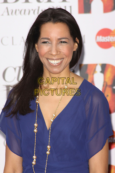 MARGHERITA TAYLOR .Arriving to the Classical Brit Awards 2011 at the Royal Albert Hall, London, England, UK, 12th May 2011..arrivals brits portrait headshot blue smiling gold necklace  .CAP/AH.©Adam Houghton/Capital Pictures.