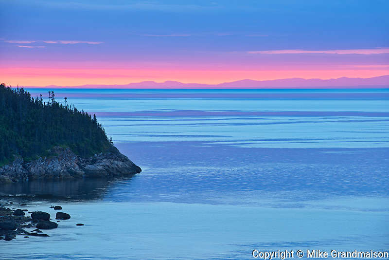 Dawn along the North Shore of the Gulf of St. Lawrence<br />