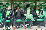 13.01.2018, Weser Stadion, Bremen, GER, 1.FBL, Werder Bremen vs TSG 1899 Hoffenheim, im Bild<br /> Auswechselbank v.li. <br /> Jerome Gondorf (Werder Bremen #8)<br /> Johannes Eggestein (Werder Bremen #24)<br /> Ole K&auml;uper / Kaeuper (Werder #14)<br /> Robert Bauer (Werder Bremen #4)<br /> <br /> Foto &copy; nordphoto / Kokenge
