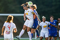 Seattle, WA - Saturday July 16, 2016: Abby Erceg, Beverly Yanez during a regular season National Women's Soccer League (NWSL) match between the Seattle Reign FC and the Western New York Flash at Memorial Stadium.