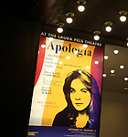 "Theatre Marquee for the Broadway Opening Night for the Roundabout Theatre Company production of ""Apologia"" on October 16, 2018 at the Laura Pels Theatre in New York City."