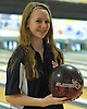 Katie LoPiccolo of St. John the Baptist High School poses for a portrait after winning the Nassau-Suffolk CHSAA girls' bowling individual championship at AMF Babylon Lanes on Thursday, Feb. 11, 2016. She claimed the league title with a 565 three game series and had a high game of 206.