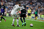 Real Madrid's Dani Carvajal and CD Leganes's Michael Nicolas Santos during La Liga match. September 01, 2018. (ALTERPHOTOS/A. Perez Meca)