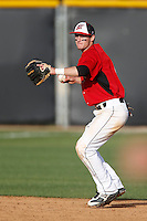 Kyle Attl #6 of the Cal State Northridge Matadors during a game against the University of San Diego Toreros at Matador Field on March 26, 2013 in Northridge, California. (Larry Goren/Four Seam Images)