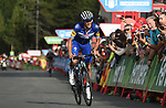 Enric Mas Nicolau (ESP) Quick-Step Floors approaches the finish line on the final climb of Stage 19 of the La Vuelta 2018, running 154.4km from Lleida to Andorra, Naturlandia, Andorra. 14th September 2018.                   <br /> Picture: Colin Flockton | Cyclefile<br /> <br /> <br /> All photos usage must carry mandatory copyright credit (© Cyclefile | Colin Flockton)