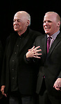 Playwright Bernard Pomerance and Director Scott Ellis  during the Broadway Opening Night Performance Curtain Call for 'The Elephant Man' at the Booth  Theatre on December 7, 2014 in New York City.
