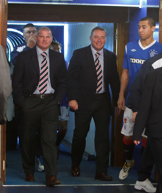 Ally McCoist laughing before training