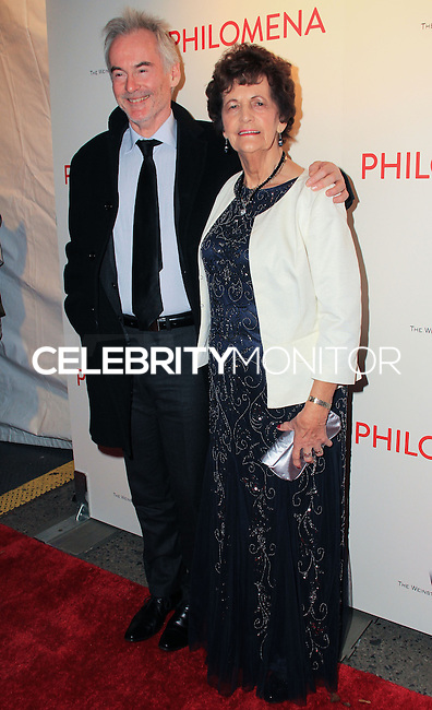 """NEW YORK, NY - NOVEMBER 12: Martin Sixsmith, Philomena Lee at the New York Premiere Of The Weinstein Company's """"Philomena"""" held at Paris Theater on November 12, 2013 in New York City. (Photo by Jeffery Duran/Celebrity Monitor)"""