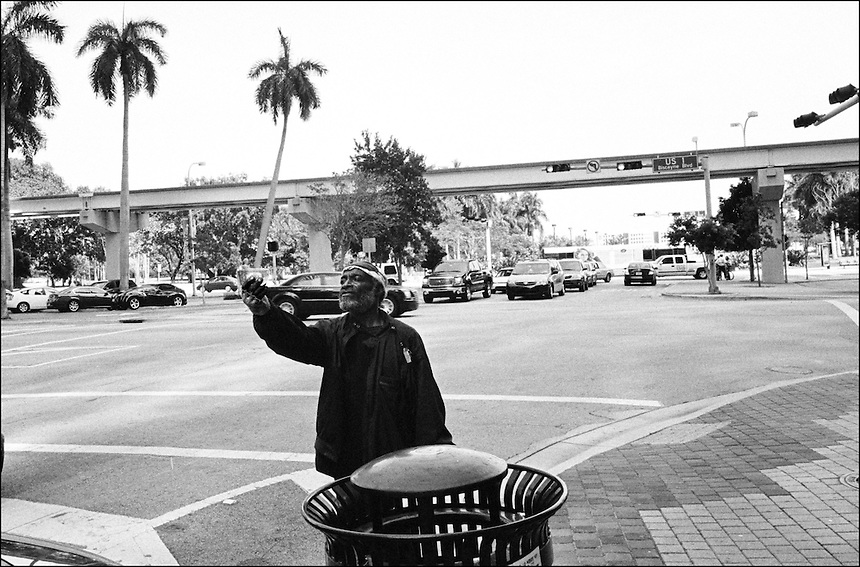 """A Dollar<br /> From """"Miami in Black and White"""" series<br /> Downtown Miami, Apr 2011"""