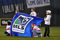 MLS flag...Kansas City Wizards defeated D.C Utd 4-0 in their home opener at Community America Ballpark, Kansas City, Kansas.