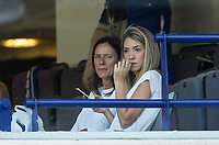 Alvaro Morata of Chelsea wife Alice Campello watches the match during the Premier League match between Chelsea and Everton at Stamford Bridge, London, England on 27 August 2017. Photo by Andy Rowland.