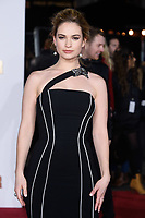 "Lilly James<br /> arriving for the ""Darkest Hour"" premiere at the Odeon Leicester Square, London<br /> <br /> <br /> ©Ash Knotek  D3361  11/12/2017"