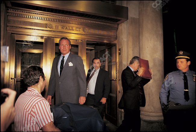 "The ""Black Monday"" stock market crash. Wall Street, New York City, USA, October 1987"