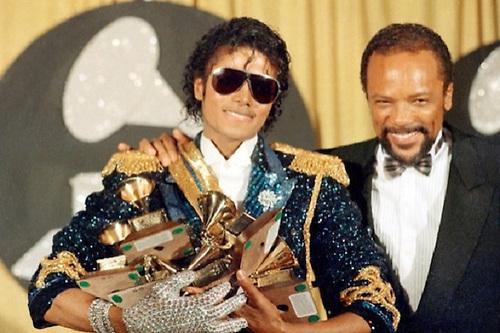 Michael Jackson con el gran músico Quincy Jones.