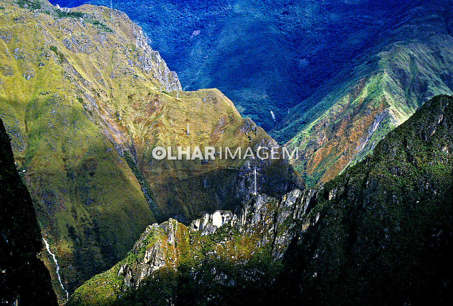 Paisagem da  Trilha Inca, Cordilheira dos Andes, Machu-Pichu. Perú. Foto de Juca Martins.Data: 1994.
