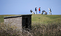 Storm shelter near the 8th tee  during Round Two of the West of England Championship 2016, at Royal North Devon Golf Club, Westward Ho!, Devon  23/04/2016. Picture: Golffile | David Lloyd<br /> <br /> All photos usage must carry mandatory copyright credit (&copy; Golffile | David Lloyd)