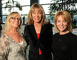 From left: Linda Collins, Shauna Proler and Susan Miller at the Guardian of the Human Spirit Luncheon at the Hilton Americas Hotel Monday Nov. 05,2012.(Dave Rossman photo)