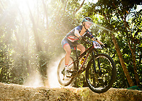 Picture by Alex Broadway/SWpix.com - 06/09/17 - Cycling - UCI 2017 Mountain Bike World Championships - XCO - Cairns, Australia - Emily Wadsworth of Great Britain in action during a practice session.