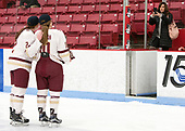 Grace Bizal (BC - 2), Kali Flanagan (BC - 10) -  The Boston College Eagles defeated the Northeastern University Huskies 2-1 in overtime to win the 2017 Hockey East championship on Sunday, March 5, 2017, at Walter Brown Arena in Boston, Massachusetts.