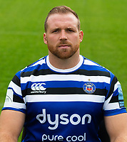 Henry Thomas of Bath Rugby poses for a portrait. Bath Rugby Media Day on August 14, 2018 at Farleigh House in Bath, England. Photo by: Patrick Khachfe / Onside Images