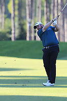 Shane Lowry (IRL) plays his 2nd shot on the 17th hole during Thursday's Round 1 of the 2018 Turkish Airlines Open hosted by Regnum Carya Golf &amp; Spa Resort, Antalya, Turkey. 1st November 2018.<br /> Picture: Eoin Clarke | Golffile<br /> <br /> <br /> All photos usage must carry mandatory copyright credit (&copy; Golffile | Eoin Clarke)