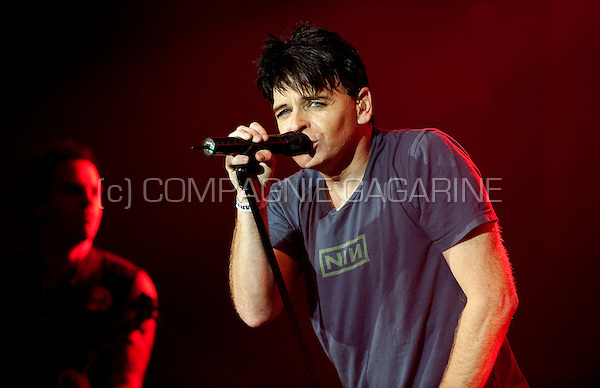 British new-wave artist Gary Numan playing at the first Sinner's Day festival in Hasselt (Belgium, 01/11/2009)