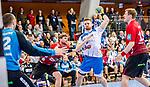 Schmidt, David (TVB 1Stuttgart #77) / Heiny, Lutz (HSG Nordhorn-Lingen #5) / TVB 1898 Stuttgart - HSG Nordhorn Lingen / HBL / LIQUI MOLY 1.Handball-BundesligaSCHARRena / Stuttgart Baden-Wuerttemberg / Deutschland <br /> <br /> Foto © PIX-Sportfotos *** Foto ist honorarpflichtig! *** Auf Anfrage in hoeherer Qualitaet/Aufloesung. Belegexemplar erbeten. Veroeffentlichung ausschliesslich fuer journalistisch-publizistische Zwecke. For editorial use only.