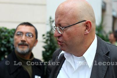 Genève, le 11.10.2009.Election cantonal à Uni Mail..Pierre Vanek..© Le Courrier / J.-P. Di Silvestro