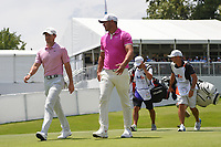 Rory McIlroy (NIR) and Brooks Koepka (USA) make their way down 13 during round 2 of the WGC FedEx St. Jude Invitational, TPC Southwind, Memphis, Tennessee, USA. 7/26/2019.<br /> Picture Ken Murray / Golffile.ie<br /> <br /> All photo usage must carry mandatory copyright credit (© Golffile | Ken Murray)