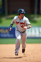 Brevard County Manatees right fielder Clint Coulter (40) running the bases during a game against the St. Lucie Mets on April 17, 2016 at Tradition Field in Port St. Lucie, Florida.  Brevard County defeated St. Lucie 13-0.  (Mike Janes/Four Seam Images)