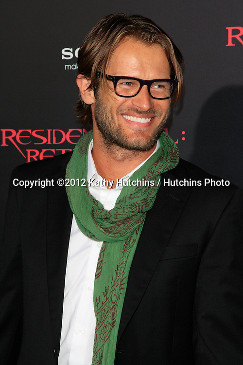 """LOS ANGELES - SEP 12:  Johann Urb arrives at the """"Resident Evil: Retribution"""" Premiere at Regal Cinemas L.A. Live on September 12, 2012 in Los Angeles, CA"""