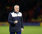 Leicester City's Claudio Ranieri celebrates at the final whistle<br /> <br /> - English Premier League - Watford vs Leicester City  - Vicarage Road - London - England - 5th March 2016 - Pic David Klein/Sportimage