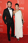 Armie Hammer and Elizabeth Chambers arriving at LACMA's 50th Anniversary Gala Los Angeles CA. April 18, 2015