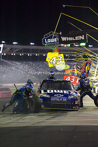 Oct 11, 2008; 8:43:59 PM;  Concord, NC, USA; Nascar Sprint Cup Series for the Bank of America 500  at Lowe's Motor Speedway. Mandatory Credit: Joey Millard