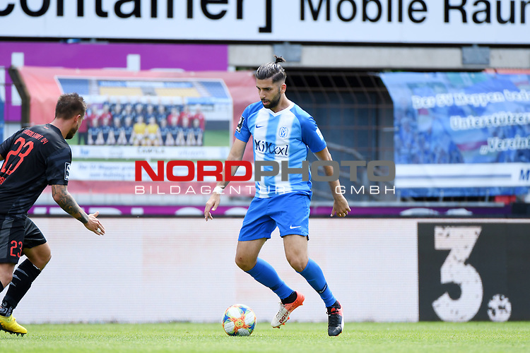 28.06.2020, Hänsch-Arena, Meppen, GER, 3.FBL, SV Meppen vs. FC Ingolstadt 04 <br /> <br /> im Bild<br /> Hilal El Helwe (SV Meppen, 29) am Ball.<br /> <br /> DFL REGULATIONS PROHIBIT ANY USE OF PHOTOGRAPHS AS IMAGE SEQUENCES AND/OR QUASI-VIDEO<br /> <br /> Foto © nordphoto / Paetzel
