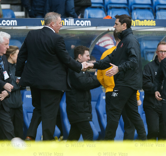Ally McCoist and Jackie McNamara at full-time