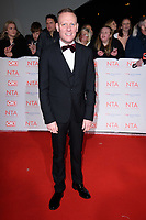 Anthony Cotton at the National Television Awards 2018 at the O2 Arena, Greenwich, London, UK. <br /> 23 January  2018<br /> Picture: Steve Vas/Featureflash/SilverHub 0208 004 5359 sales@silverhubmedia.com