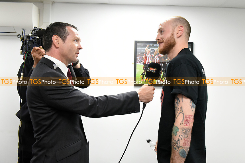 George Groves is interviewed ahead of a Boxing Show at Bramall Lane on 27th May 2017