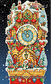 Interlitho-Theresa, CHRISTMAS SANTA, SNOWMAN, WEIHNACHTSMÄNNER, SCHNEEMÄNNER, PAPÁ NOEL, MUÑECOS DE NIEVE, paintings+++++,KL6112,#x#,northpole,cuckoo clock,