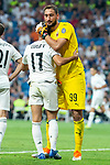 Real Madrid Lucas Vazquez and A.C. Milan Gianluigi Donnarumma during Santiago Bernabeu Trophy match at Santiago Bernabeu Stadium in Madrid, Spain. August 11, 2018. (ALTERPHOTOS/Borja B.Hojas)