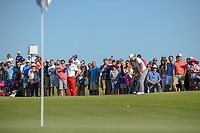 Sung Kang (USA) putts on to the green on 18 during round 4 of the AT&T Byron Nelson, Trinity Forest Golf Club, Dallas, Texas, USA. 5/12/2019.<br /> Picture: Golffile   Ken Murray<br /> <br /> <br /> All photo usage must carry mandatory copyright credit (© Golffile   Ken Murray)