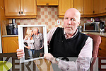 Christy Lacey holds a photo of his partner Inara Kasalite who died tragically in Beaumont Hospital in Dublin on Sunday.
